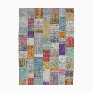 8x12 Vintage Turkish Oushak Handmade Wool Patchwork Rug