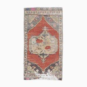 Türkischer Vintage Oushak 2x3 Vintage Teppich in Orange