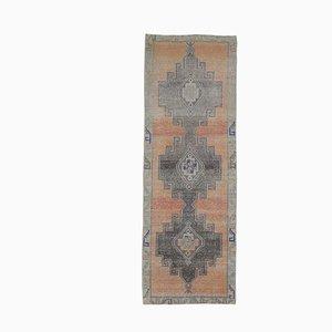 Türkischer Vintage Oushak 4x12 Türkischer Vintage Teppich aus Wolle