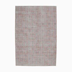 Tappeto Oushak vintage in lana lavorata a mano 7x11