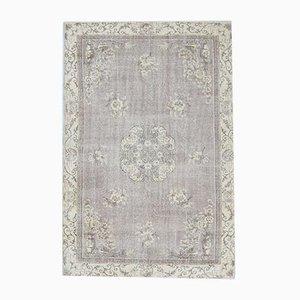 7x10 Vintage Turkish Oushak Oriental Bordered Carpet