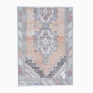 Türkischer Vintage Oushak Handgewebter & gepolsterter 3x4 Teppich aus Wolle