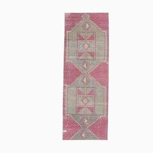 3x8 Vintage Turkish Oushak Handmade Purple Wool Runner Rug