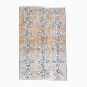3x5 Vintage Turkish Oushak Handmade Wool Rug in Orange