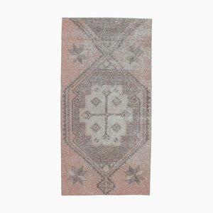 3x6 Vintage Turkish Oushak Handmade Wool Rug