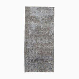 3x6 Türkischer Vintage Oushak Teppich aus Wolle in Grau