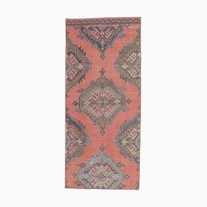 Handgeknüpfter türkischer Vintage Oushak Wollteppich aus Lachs in 3x6 Farben