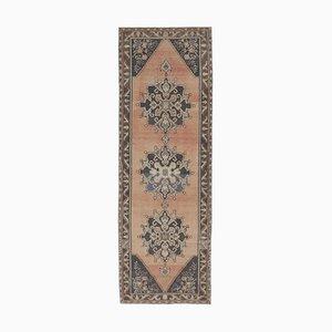 Türkischer Vintage Oushak 4x11 Handgemacht Teppich aus Wolle
