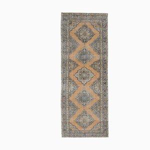 5x12 Vintage Turkish Oushak Handmade Wool Runner Rug