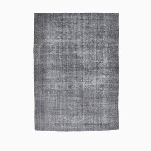 Tappeto Oushak vintage fatto a mano, 9x12, fatto a mano, lana