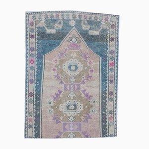 3x5 Vintage Turkish Oushak Handmade Wool Oriental Rug