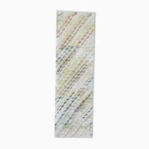Türkischer Vintage Oushak 2x7 Handgemacht Teppich aus Wolle