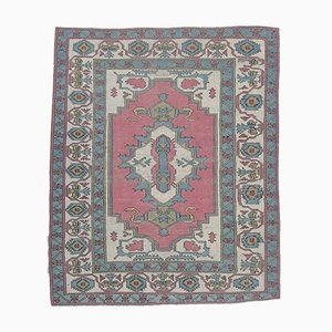 7x8 Antique Turkish Oushak Oriental Carpet in Pink