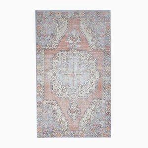 Handgeknüpfter 4x7 Vintage Orihak Wollbezug Teppich im orientalischen Mid-Osten Stil
