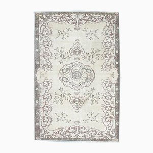 6x9 Vintage Turkish Oushak Oriental Neutral Carpet