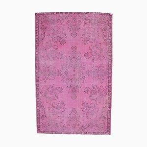 7x10 Vintage Oushak Handmade Overdued Pink Wool Rug