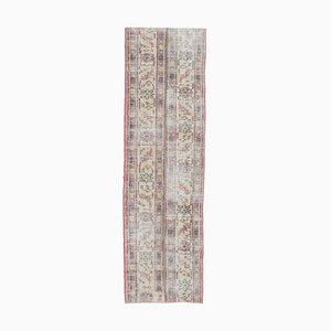 Tappeto Oushak vintage fatto a mano a forma di fiore, lana, 2x8