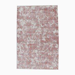 7x11 Türkischer Vintage Ouschak Teppich in Blumen- & Damast-Optik