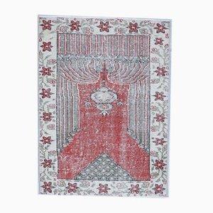 Türkischer Vintage Oushak Meditationsteppich 3x4