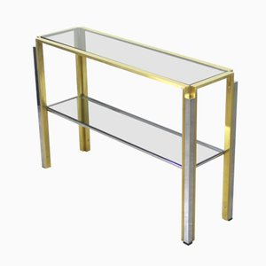 Vintage Italian Smoked Glass Console