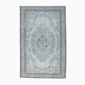 6x9 Vintage Middle East Oushak Light Blue Oriental Rug