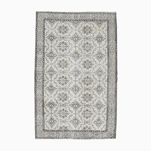 6x10 Vintage Turkish Oushak Oriental Bordered Carpet