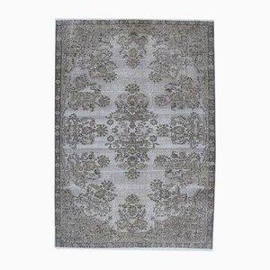 7x9 Vintage Turkish Oushak Handmade Gray Wool Oriental Rug