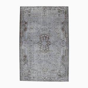 6x9 Vintage Turkish Oushak Handmade Gray Wool Oriental Rug