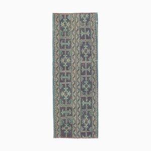 2x4 Vintage Turkish Oushak Handmade Narrow Runner Rug