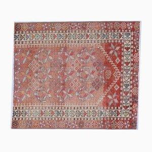 3x3 Vintage Turkish Oushak Doormat Square Carpet
