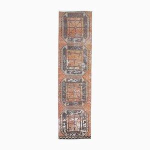 3x12 Vintage Turkish Oushak Handmade Wool Runner Rug