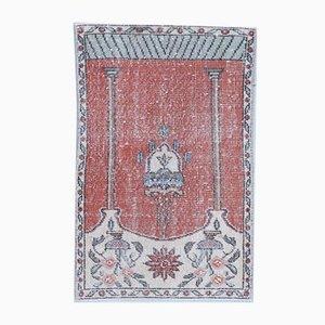 2x3 Vintage Turkish Oushak Meditation Rug