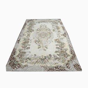 6x9 Türkischer Vintage Oushak orientalischer Distressed Teppich
