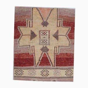 3x3 Vintage Turkish Oushak Doormat or Small Carpet