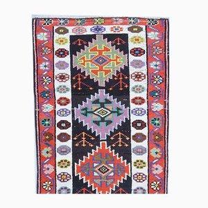 3x4 Vintage Turkish Oushak Handmade Wool Carpet