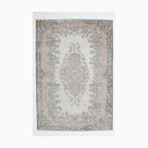 Handgeknüpfter Türkischer Vintage Oushak Teppich aus Wolle, 6x9