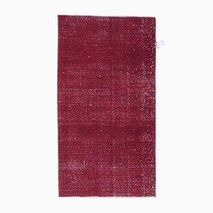 Zerbino piccolo Oushak vintage rosso, Turchia, 2x4. Tappeto