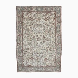 6x10 Vintage Turkish Oushak Handmade Wool Carpet