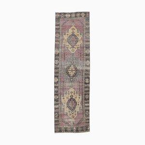 Türkischer Mid-Century Teppich aus türkisblauem Wollgewebe