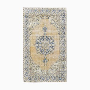 3x7 Vintage Middle East Oushak Handmade Wool Medallion Rug