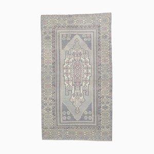4x7 Vintage Turkish Oushak Handmade Wool Oriental Rug in Gray