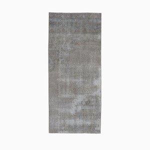 Tappeto Oushak vintage grigio con motivi floreali a mano, 3x6