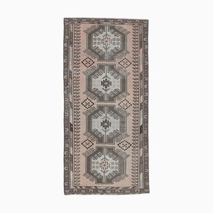 3x6 Vintage Turkish Oushak Handmade Wool Runner Rug