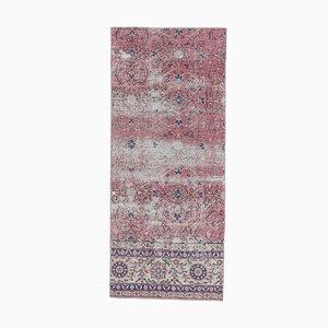 Tappeto eclettico in lana Oushak 3x6 vintage fatto a mano, Turchia
