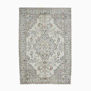 Handgemachter orientalischer Mid-Century Oushak Wange Teppich in Beige
