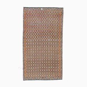 3x5 IKAT türkischer Vintage Teppich Oushak handgewebter Wollteppich Burnt