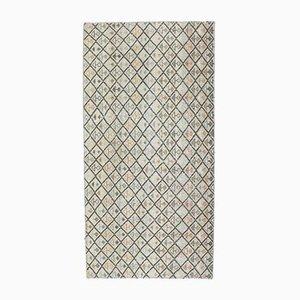 3x6 Türkischer Vintage Oushak Teppich aus Wolle Ikat Arrow