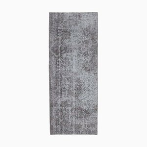 2x6 Vintage Turkish Oushak Handmade Wool Rug in Gray