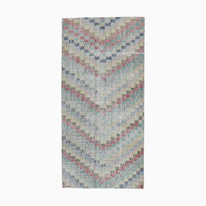 3x6 Vintage Turkish Oushak Handmade Colorful Wool Rug