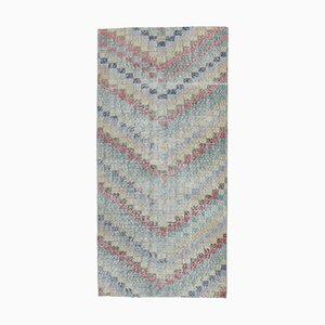 Tappeto Oushak vintage colorato a mano in lana colorata, Regno Unito